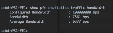 show-pfe-statistics-traffic-bandwidth